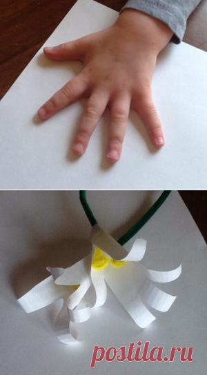 Детские поделки из бумаги для детей 3-4 лет. Подарок для мамы на 8 ... 29d28e37729