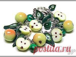 Яблочки из полимерной глины - Ярмарка Мастеров - ручная работа, handmade