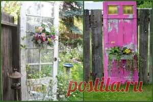 What it is possible to make of an old door at the dacha and in the apartment