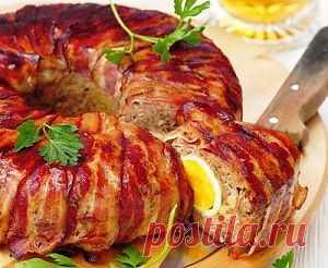 Пасхальный мясной рулет   Рецепты с фото