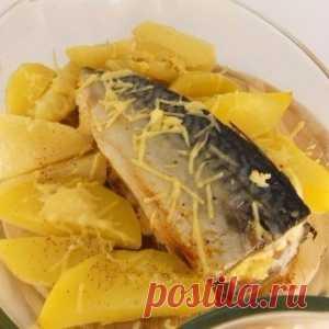 Ароматная и очень вкусная запеченная скумбрия с сыром