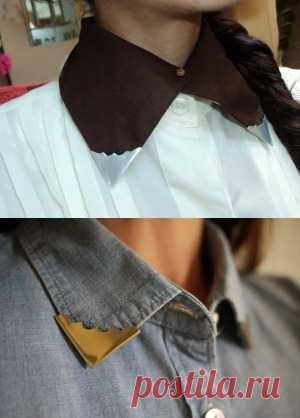 Модный акцент: уголки на рубашку