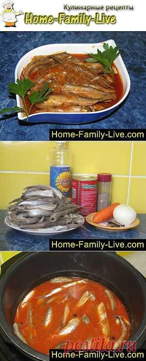 Мойва в мультиварке - пошаговый фоторецепт - мойва в томатном соусе   Кулинарные рецепты