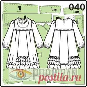 14da6952394 Выкройки детских платьев. 352 готовые и бесплатные выкройки - Porrivan
