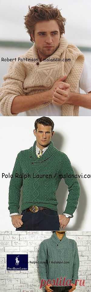 Вязаный пуловер для мужчин от Polo Ralph Lauren   Вяжем с Ланой