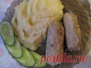 Куриные колбаски в фольге