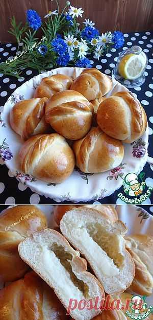 Медовые булочки с начинкой из сливочно-творожного сыра - кулинарный рецепт