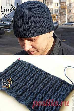 Мужская шапка-резинка крючком