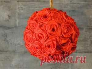Вышиваем цветок мака атласными лентами