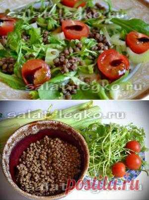 Салат из чечевицы и сельдерея