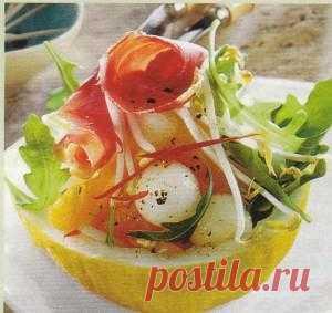 Салат на дыне