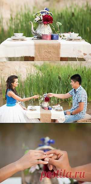 Вдохновение нежностью: помолвка Марины и Петра - WeddyWood