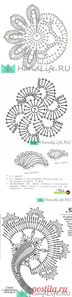 Элементы фриформа, схемы / Мое творчество - вязание