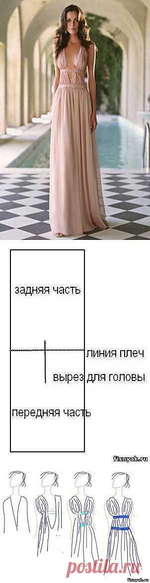 Два способа создания греческого платья / Простые выкройки / Модный сайт о стильной переделке одежды и интерьера