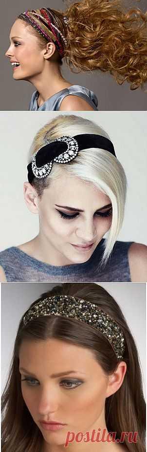 Красивые ободки для волос - Прически с ободками
