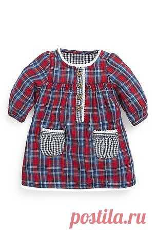 Платье из шотландки (0-18 мес.) - купить онлайн прямо сейчас на Next: Россия