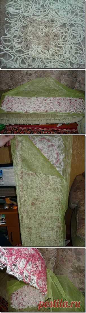 Как сделать ткань рапан .