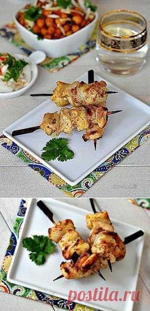 Индийские куриные тикка-кебабы