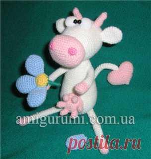 Влюблённая корова — Вязаные игрушки. Амигуруми всех стран, соединяйтесь