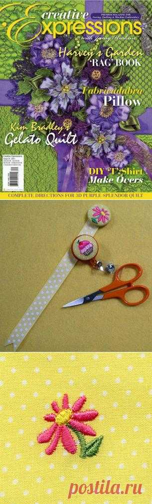Fabric Covered Buttons for Machine Embroidery from A Design By Lyn
