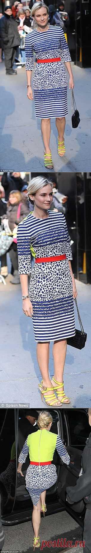 Диана Крюгер на Good Morning America / Звездный стиль / Модный сайт о стильной переделке одежды и интерьера