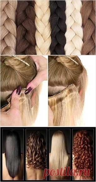 Нарощенные волосы на заколках – самый легкий способ изменить прическу