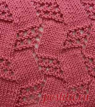 Оригинальный узор для вязания спицами