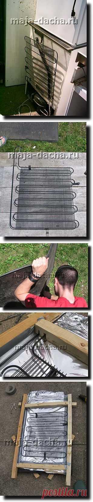 » Солнечный водонагреватель для дачи своими руками