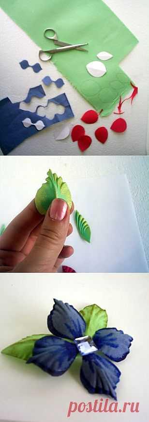 Мастерская Маленьких Чудес: МК цветы из нажелатиненной ткани.