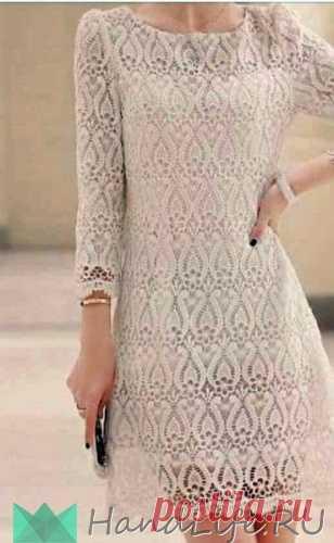 Шикарное ажурное платье / Вязание