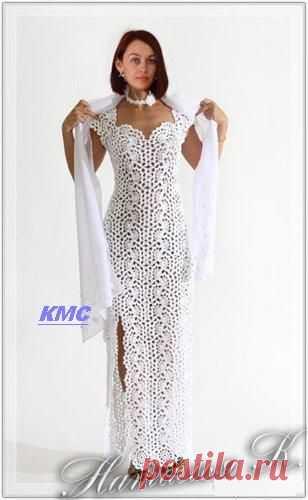 Нарядное платье ленточным кружевом