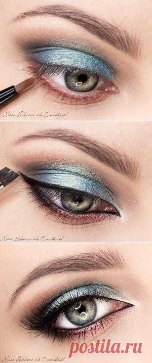 """Восхитительный мейк для глаз в стиле """"металлик"""" от польских визажистов!"""
