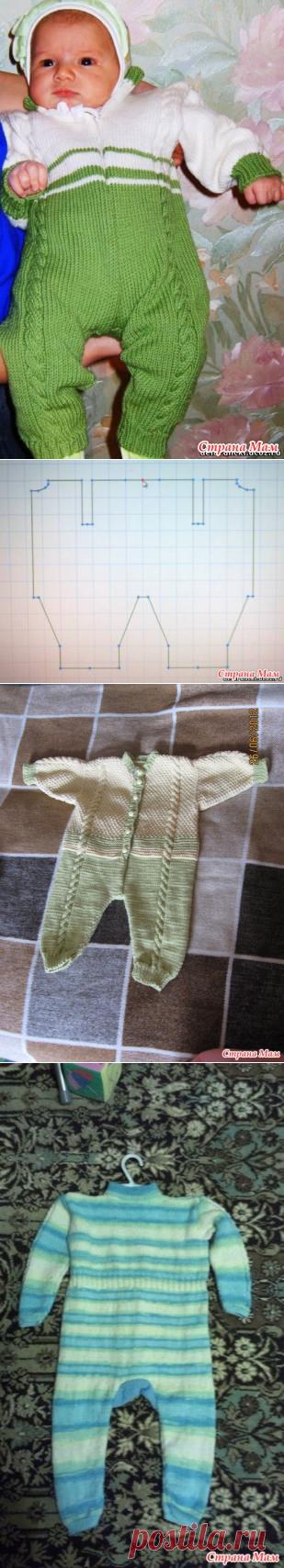 Комбинезон для новорожденного или грудничка. Машинное вязание. Мастер класс. - Страна Мам
