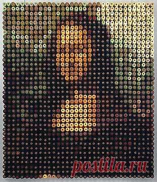 Мона Лиза из катушек ниток (DIY) / Арт-объекты / Модный сайт о стильной переделке одежды и интерьера