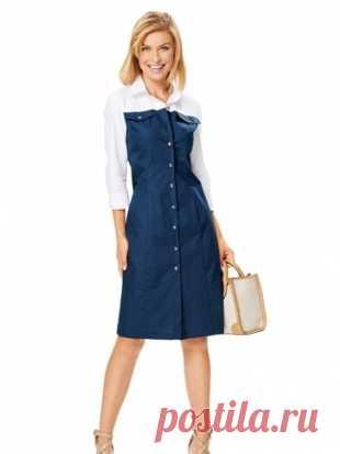 ad35f88a64267e9 Платье-рубашка - выкройка № 6644 из журнала 13/2016 Каталог Burda – выкройки