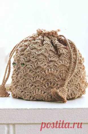 002479b49b58 Сумка-мешок крючком | Вязаные сумки | Постила