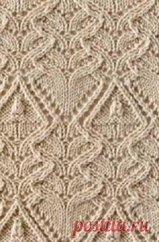 Узоры спицами Большая подборка узоров для вязания спицами