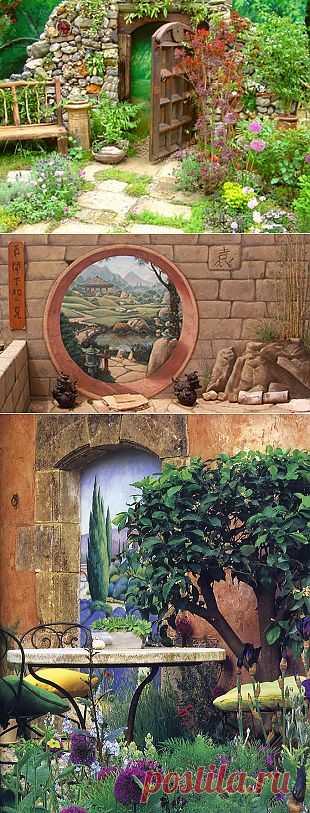 Trompe-l'oeil: обман зрения - иллюзии для сада,