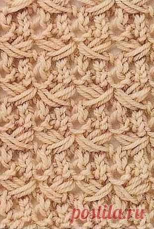 Узор с переплетеными петлями | Рукоделие и вязание