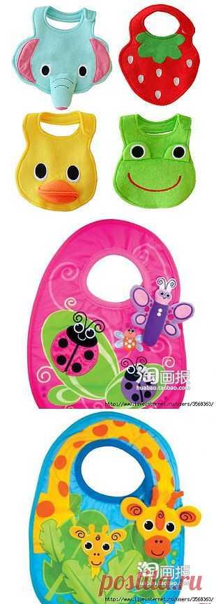 Красивые слюнявчики для малышей