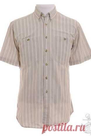 Рубашка Beyond Retro. Бежевый, Белый 100% хлопок