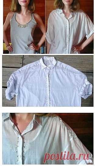 Декор блузки и майки булавками (DiY) / Блузки / Модный сайт о стильной переделке одежды и интерьера