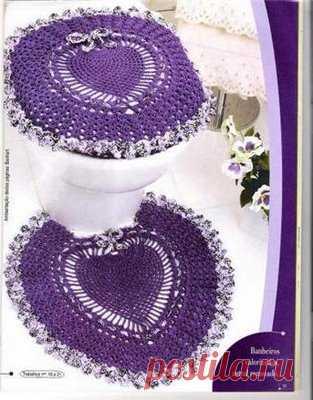схемы вязания крючком ковриков для ванной комнаты домоводство для