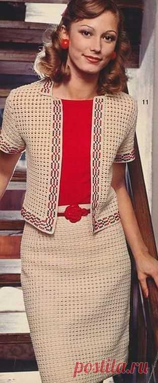 Схема вязания костюма крючком