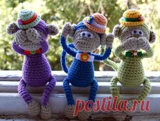 """PDF Обезьянка """"Радужная компания"""". Бесплатный мастер-класс, схема и описание для вязания игрушки амигуруми крючком. Вяжем игрушки своими руками! FREE amigurumi pattern. #амигуруми #amigurumi #схема #описание #мк #pattern #вязание #crochet #knitting #toy #handmade #поделки #pdf #рукоделие #обезьяна #monkey #обезьянка #chimp #мартышка #шимпанзе"""