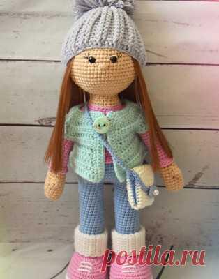 Стеша амигуруми. Схемы и описания для вязания игрушек крючком! С помощью данного описания, вы сможете связать очень симпатичную куклу по имени Стеша. Рост вязаной куклы примерно 27 см. Помимо самой игрушки, в схем…