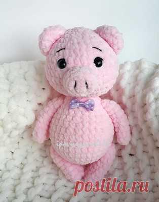 плюшевая свинка амигуруми схемы и описания для вязания игрушек