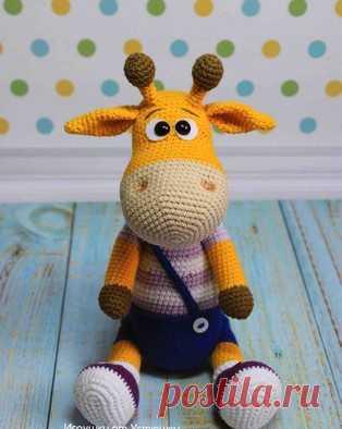 Жираф Ральф амигуруми. Схемы и описания для вязания игрушек крючком! Бесплатный мастер-класс по вязанию жирафа по имени Ральф от Марии Устюшкиной. Высота вязаного крючком жирафика примерно 33 см. Ножки и ручки подвижны…