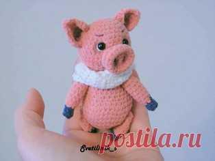 Pdf свинка малыш чуня бесплатный мастер класс схема и описание для