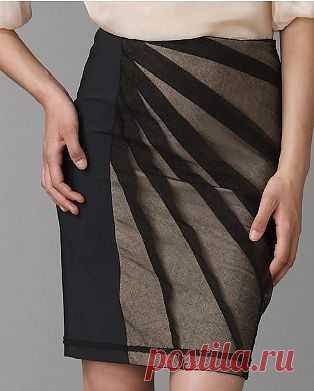 Переделка юбки сеткой сверху / Юбки и их переделки / Модный сайт о стильной переделке одежды и интерьера